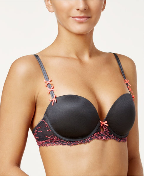 Heidi by Heidi Klum French Lace Bra H23-1416B, Onl EbonyNeon Flamingo 38DD