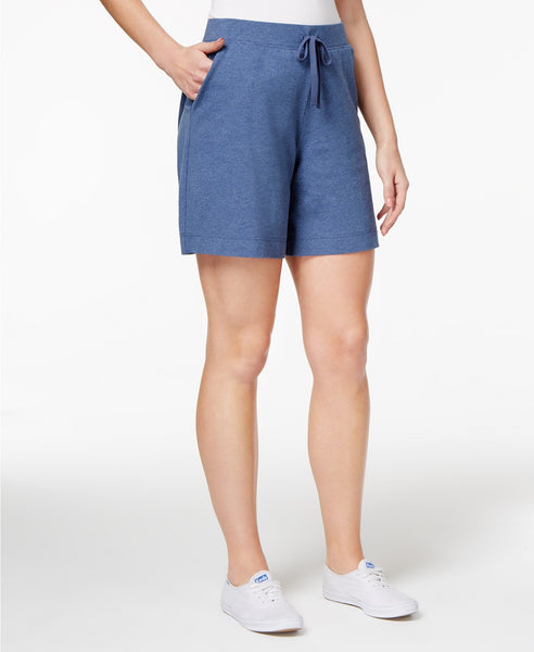 Karen Scott Pull-On Shorts Intrepid Blue M