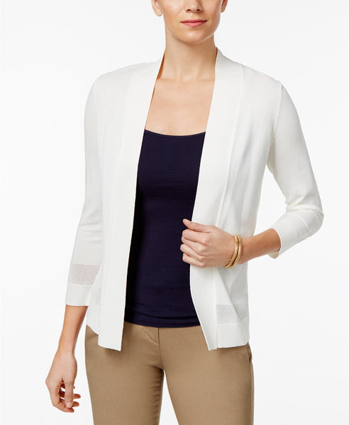 Charter Club Open-Front Cardigan Cloud XL