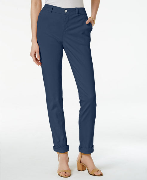 Style Co Cuffed Colored Pants Stonewall 12