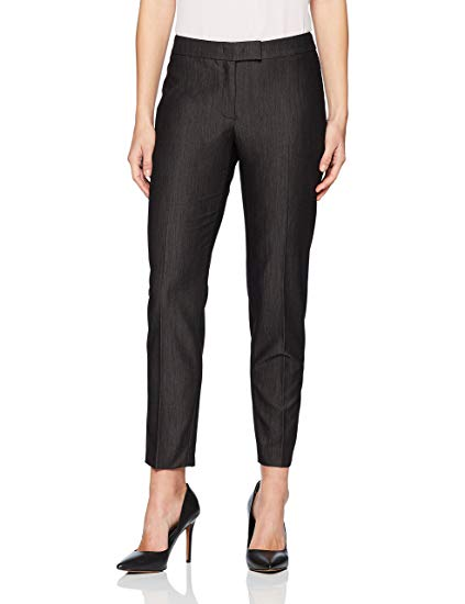 Anne Klein Slim-Fit Pants BlackCascade 8