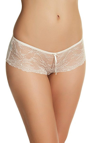 Heidi by Heidi Klum French Lace Hipster H308-1166B Silver PeonyPristine XL