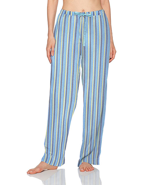 Hue Printed Knit Pajama Pants Powder Blue L