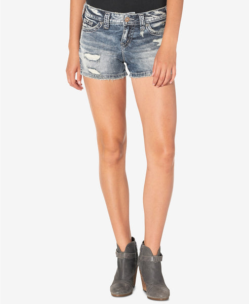 Silver Jeans Co. Berkley Ripped Indigo Wash Cot Indigo 33