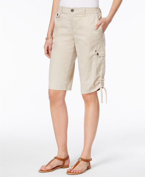 Style Co Ruched Bermuda Shorts Bright White 6