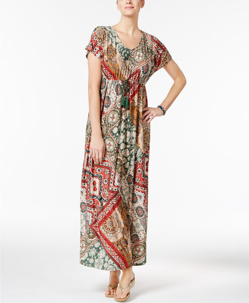 Style Co Printed Maxi Dress Bohemian Floral S