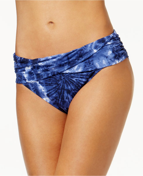 Bleu by Rod Beattie Tie-Dyed Hipster Bikini Bottom Blue 10