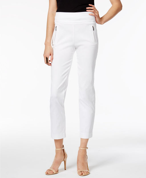 Inc International Concepts Petite Cropped Skinny Pants Bright White 10p