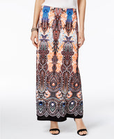 ECI Printed Maxi Skirt Purple Multi M