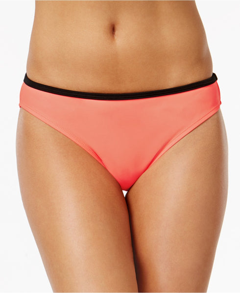 California Waves Sea Shore Bikini Bottoms Peach M
