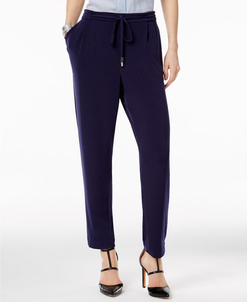 Olivia Grace Drawstring-Waist Studio Pants Evening Blue XL
