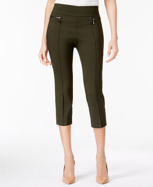 Style Co Pull-On Cropped Pants Orchard Vine M