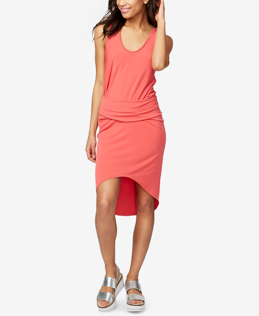 RACHEL Rachel Roy Ruched High-Low Sheath Dress Paradise S