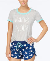 Jenni Ringer Pajama T-Shirt Wine Not M