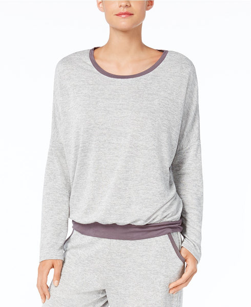 Alfani French Terry Pajama Top, Creat Light Heather XXL
