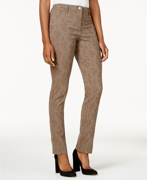 Style Co Jacquard 5-Pocket Pants Brown Clay 16