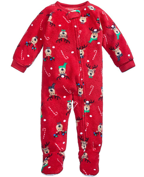Family Pajamas 1-Pc Reindeer Footed Pajamas, Reindeer 18 months - NEW WITHOUT TAG