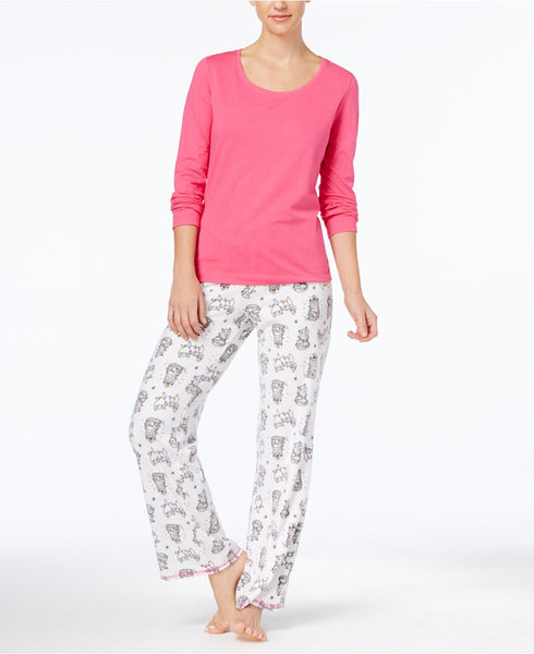 Jenni Top Printed Fleece Pants Paj Pretzel Twist XS