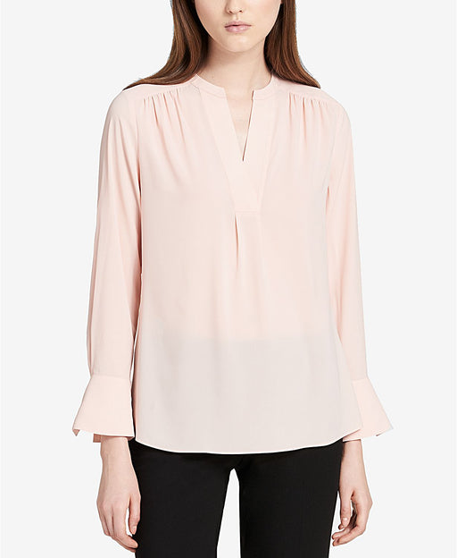 Calvin Klein V-Neck Blouse Blush L