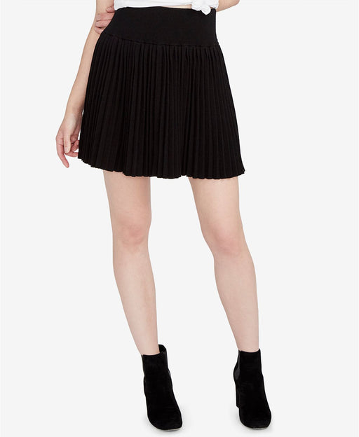 RACHEL Rachel Roy Pleated Mini Skirt Black M