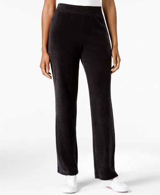 Karen Scott Petite Pull-On Pants Deep Black S
