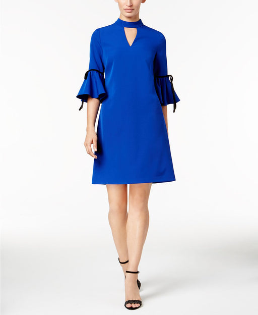 julia jordan Bell-Sleeve Sheath Dress Cobalt 12