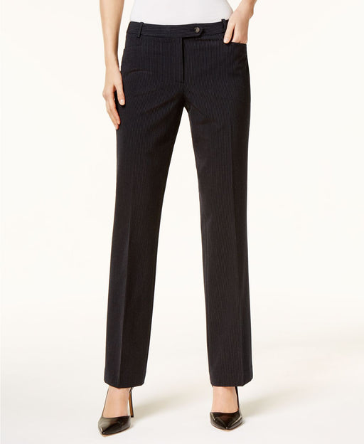 Calvin Klein Pinstripe Dress Pants Navy White 2