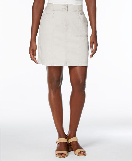 Karen Scott A-Line Skort Bright White 18