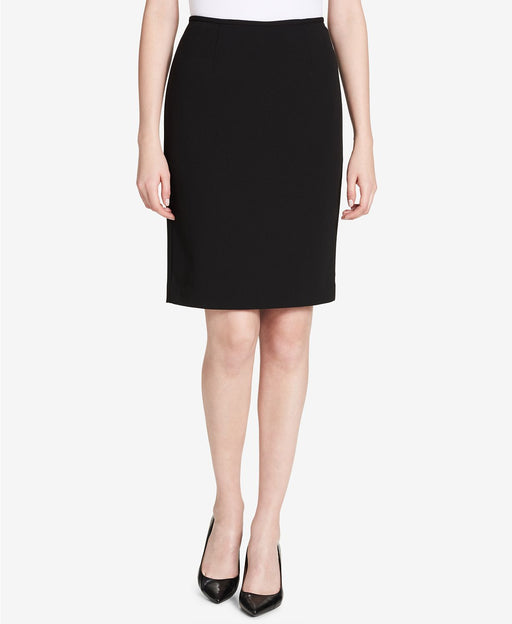 Calvin Klein Crepe Pencil Skirt Black 4