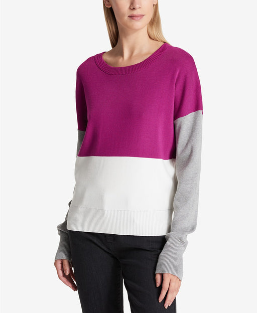 DKNY Colorblocked Sweater Magneta L