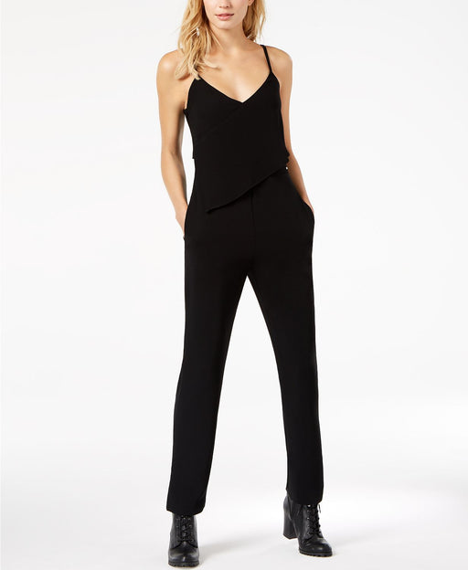 Armani Exchange Asymmetrical Popover Jumpsuit Black 2