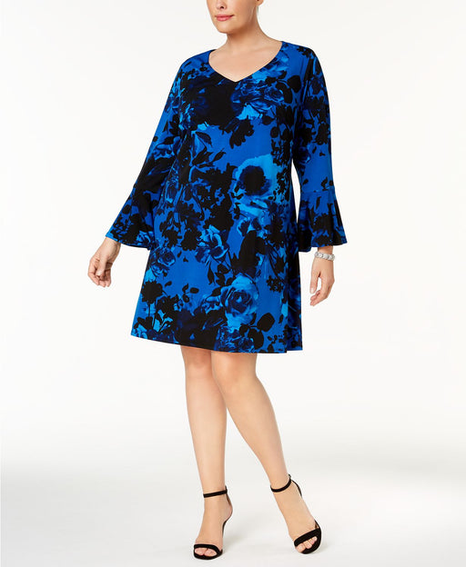 Connected Plus Size Bell-Sleeve Dress Roy 18W