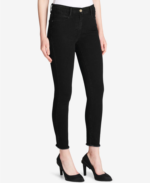 DKNY Flare-Leg Stair-Step Jeans Black 30