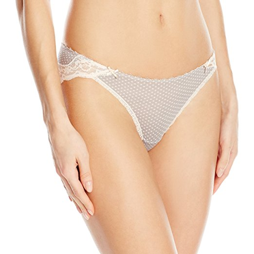 Heidi by Heidi Klum Modal Lace Bikini H30-1174B Heather MistSilver Peony Dots XL