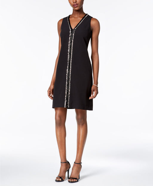 Donna Ricco Embellished Sheath Dress Black 2