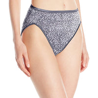 Vanity Fair Women's Illumination Hi Cut Panty 13108, Tanimal Print, 6