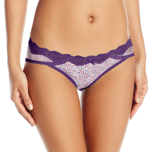 Maidenform Women's Sexy Must Haves Bikini Panty, Linear Dot Print Valiant Violet, X-Large/8