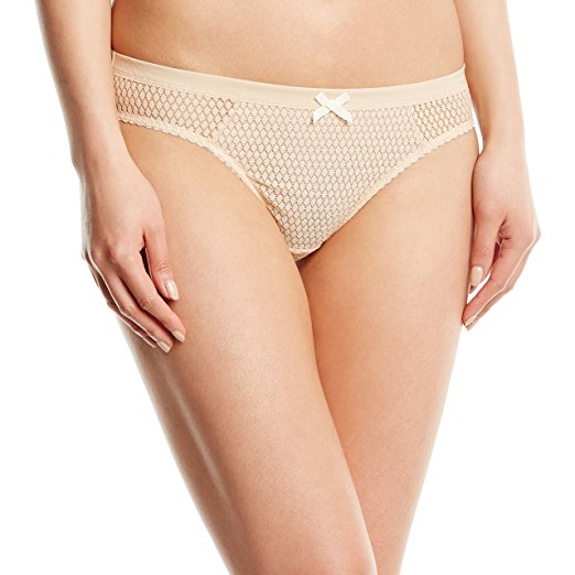 Heidi by Heidi Klum French-Cut Lace Thong H37-1166 Toasted AlmondPristine- Nude XS