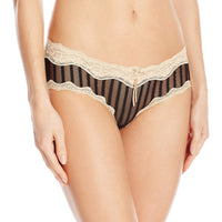 Heidi by Heidi Klum Mesh and Lace Striped Hipster BlackToasted Almond M