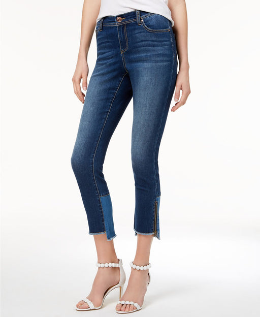 INC International Concepts Colorblocked Step-Hem Skinny J Indigo 2