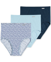 Jockey Plus Size Elance Brief 3 Pack Violet Asst 8