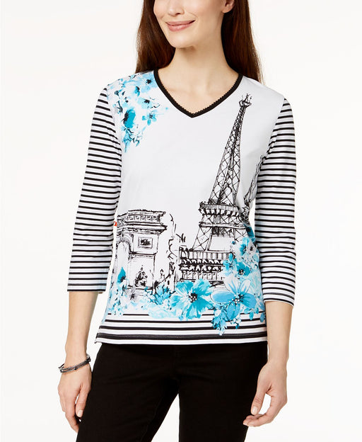 Alfred Dunner Paris Graphic Top Multi XL