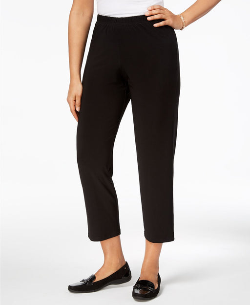 Alfred Dunner Pull-On Capri Pants Black 16