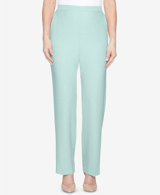 Alfred Dunner Pull-On Flat-Front Pants Mint 12