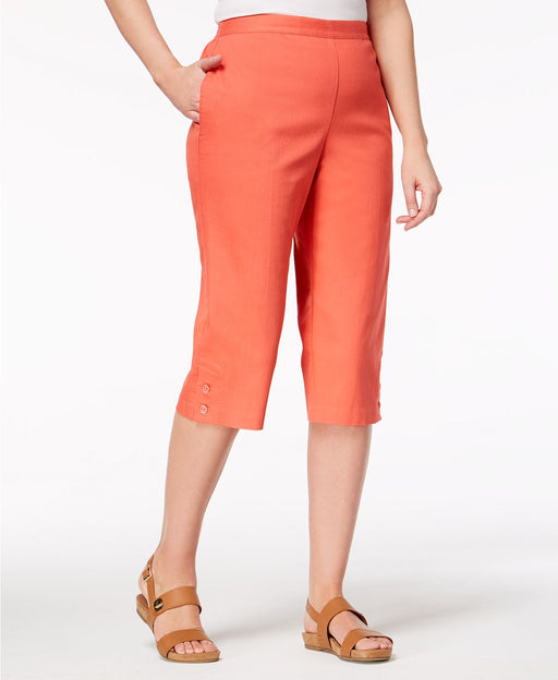 Alfred Dunner Pull-On Capri Pants Coral 20