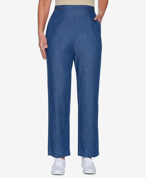 Alfred Dunner Proportion Pull-On Pants Light Denim 12