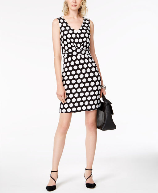 Inc International Concepts Petite Dot-Print Sheath Dress, Black Bold Dot Pxs