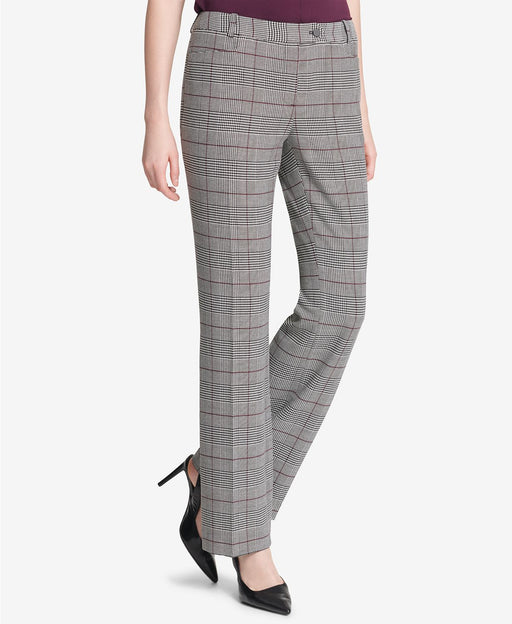 Calvin Klein Glen Plaid Modern Pant Charcoal 12