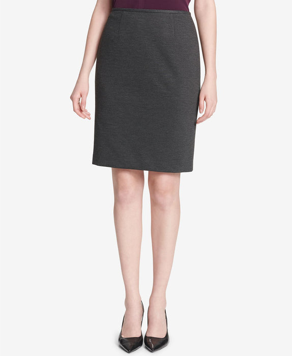 CALVIN KLEIN High Waisted Straight Skirt GRAY 4