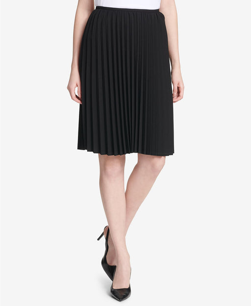 Calvin Klein Pleated A-Line Skirt Black 2